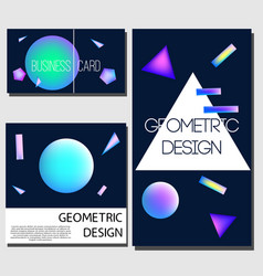 Geometric cards cover design templates brochure vector