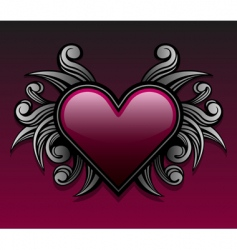 gothic heart design vector image