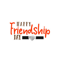 happy friendship day typographic colorful vector image vector image
