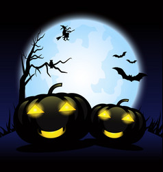 happy halloween day background vector image vector image