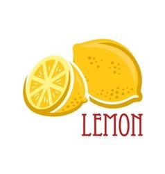 Lemon fruit symbol vector image vector image