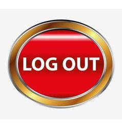 Logout button vector