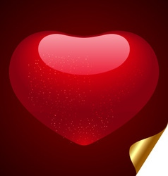 love heart shape vector image vector image