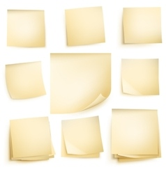 Paper notes isolated EPS 10 vector image