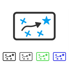 Route map flat icon vector
