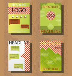 Set of brochure flyer design layout template size vector