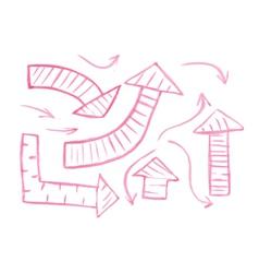 Set of hand-drawn watercolor arrows vector image vector image