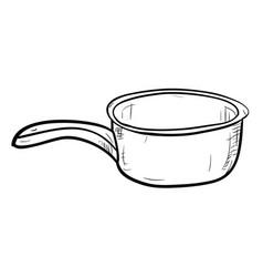 Sketch of doodle bucket vector