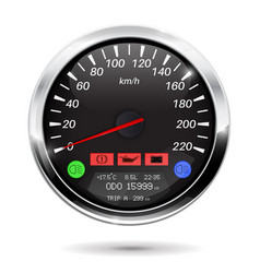 speedometer on car computer vector image vector image