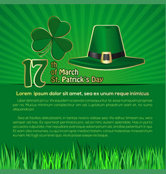 St patricks day background with space for text vector