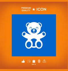 Teddy bear icon vector