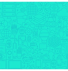 Thin augmented reality line seamless mint pattern vector