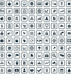 100 finance icons vector image vector image