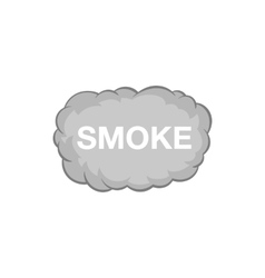 Cloud of smoke icon black monochrome style vector
