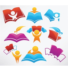 education collection signs symbol and icons vector image