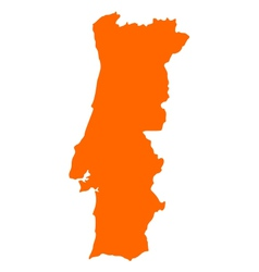 Map of portugal vector