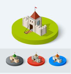 Medieval castle icon vector