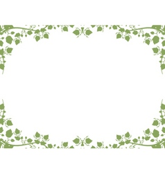 Foliage border vector
