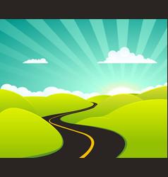 Summer holidays road vector