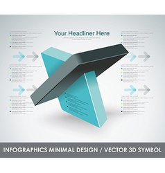 Abstract 3d symbol design template vector image