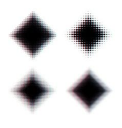 Halftone diamond design elements vector image