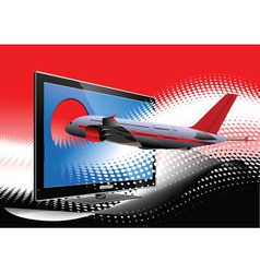 3d television vector image vector image