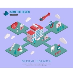 Isometric 3d Medical research and Healthcare vector image