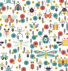 Colorful bug pattern vector