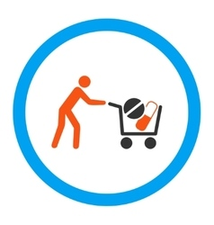 Drugs shopping rounded icon vector
