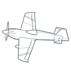 Outline sport plane vector