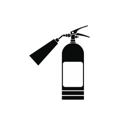Fire extinguisher black simple icon vector