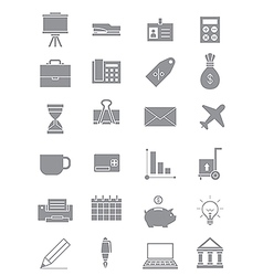 Gray business icons set vector image