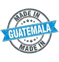 Made in guatemala blue round vintage stamp vector
