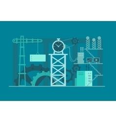 Mechanism clock industrial vector