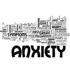 Anxiety rise from the grave text word cloud vector
