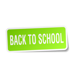 Back to school square sticker on white vector