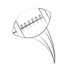 Ball american football related icon image vector