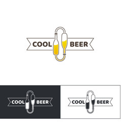 Beer logo two vector