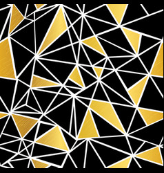 black white and gold foil geometric vector image