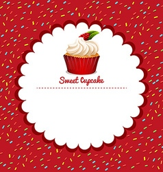 Border design with cupcake vector