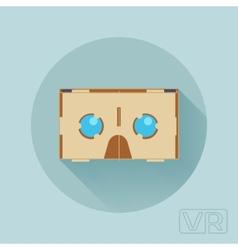 Cardboard virtual reality headset vector