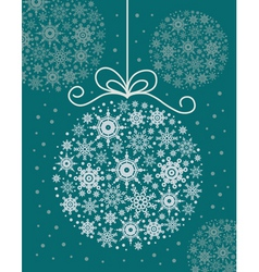 Christmas decorative ball vector image