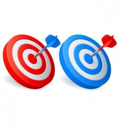 darts targets vector image