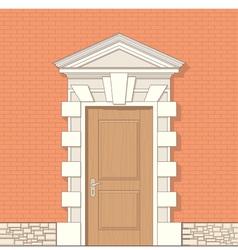 entrance vector image vector image