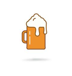 Flat beer icon vector