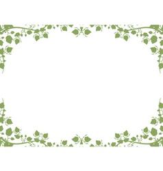 Foliage border vector