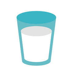 glass of milk icon image vector image vector image