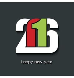 Happy new year 2016 creative greetings brochure vector