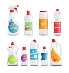 Household chemical goods set vector