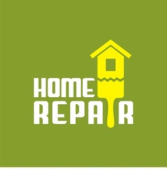 logo with brush and house vector image